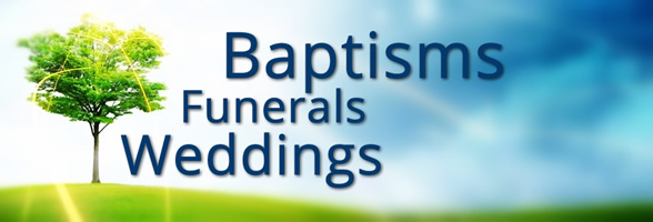 wedding baptism funeral banner